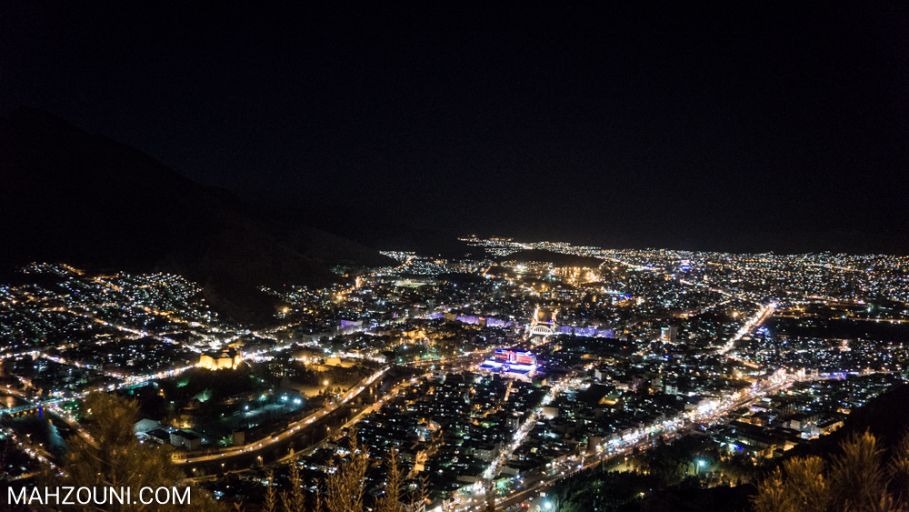 Khorramabad, Lorestan, mountain, iran, landscape, night, skyline, city,