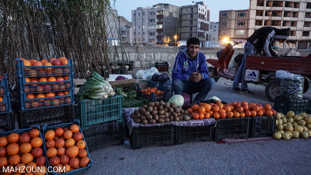 Khorramabad, Lorestan, mountain, iran, city, sunset, seller, fruit, boy,